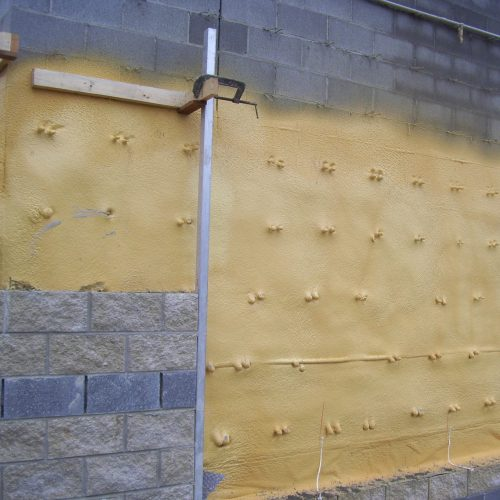 Sprayed-in-place-polyurethane-foam-air-barrier